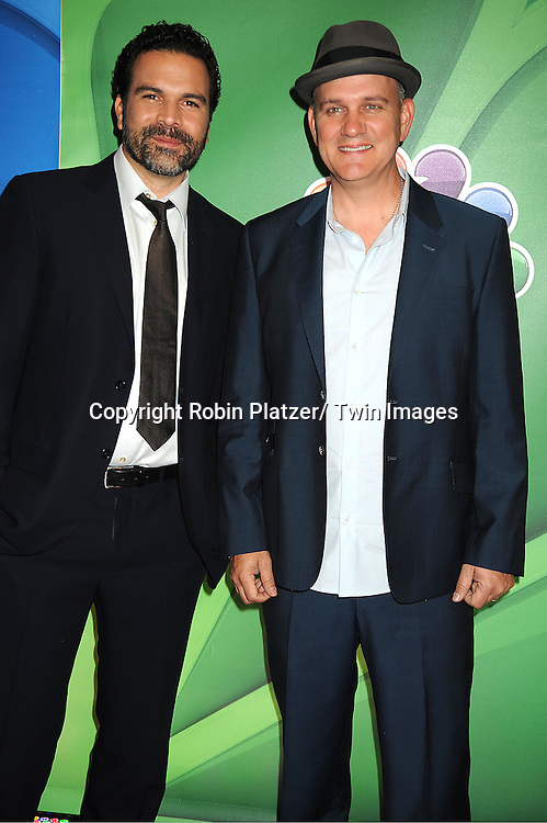 Ricardo Chavira and Mike O' Malley arrives at the NBC Upfront Presentation for 2013-2014 Season on May 13, 2013 at Radio City Music Hall in New York City.