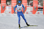 Enrico Nizzi in action at the sprint qualification of the FIS Cross Country Ski World Cup  in Dobbiaco, Toblach, on January 14, 2017. Credit: Pierre Teyssot