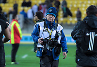 Photosport photographer Andrew Cornaga during the Steinlager Series international rugby match between the New Zealand All Blacks and France at Westpac Stadium in Wellington, New Zealand on Saturday, 16 June 2018. Photo: Dave Lintott / lintottphoto.co.nz