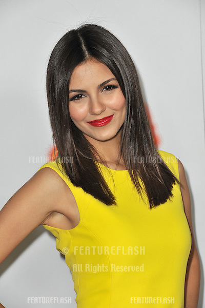 "Victoria Justice at the Los Angeles premiere of her new movie ""Fun Size"" at the Paramount Theatre, Hollywood..October 25, 2012  Los Angeles, CA.Picture: Paul Smith / Featureflash"