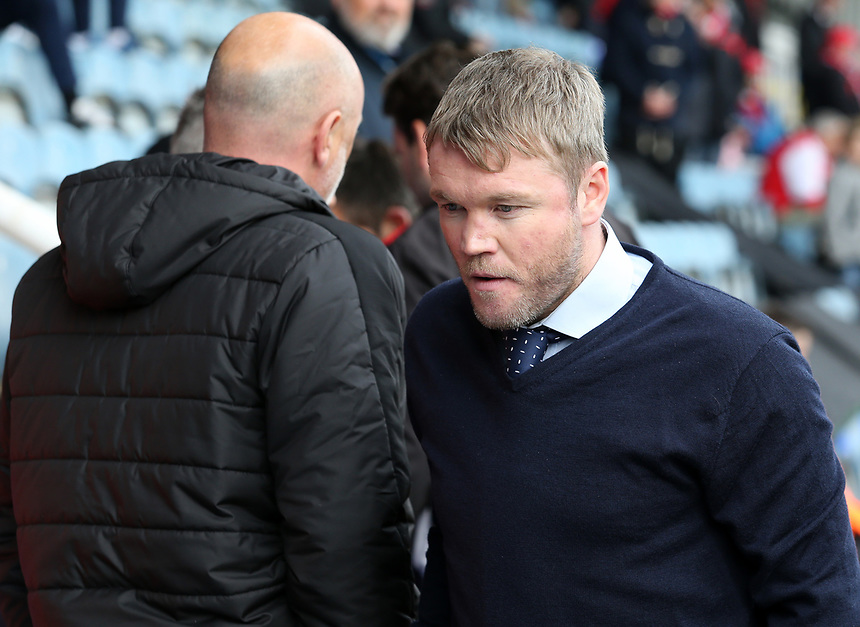 Peterborough United manager Grant McCann before kick off<br /> <br /> Photographer David Shipman/CameraSport<br /> <br /> The EFL Sky Bet League One - Peterborough United v Fleetwood Town - Friday 14th April 2016 - ABAX Stadium  - Peterborough<br /> <br /> World Copyright &copy; 2017 CameraSport. All rights reserved. 43 Linden Ave. Countesthorpe. Leicester. England. LE8 5PG - Tel: +44 (0) 116 277 4147 - admin@camerasport.com - www.camerasport.com