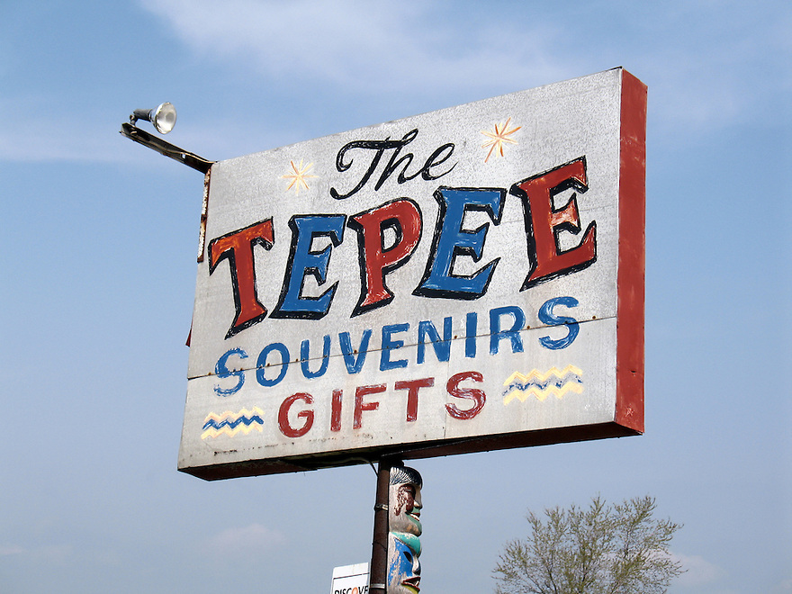 The Tepee in Cherry Valley, NY - sign