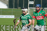 Jack Goulding (Ballyduff) in action with Diarmuid McKenna(Crotta) in the Garvey's SuperValu Senior Hurling Championship 2014 Quarter Finals at Austin Stack Park, Tralee on Saturday.