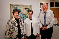 Joan Kessler, Dr. Carol Damian, co-curator, art historian for the Patricia and Phillip Frost Art Museum at Florida International University and Joel Kessler, Executive Director for the Naples Art Center at preveiw exhibition of 'Cuba on My Mind'  featuring over 30 works of Cuban art at The von LIebig Art Center, Naples, Florida, USA, March 10, 2011, Photo by Debi PIttman Wilkey.