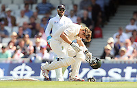 Shane Watson of Australia gets hit by a Stuart Broad bouncer - England vs Australia - 1st day of the 5th Investec Ashes Test match at The Kia Oval, London - 21/08/13 - MANDATORY CREDIT: Rob Newell/TGSPHOTO - Self billing applies where appropriate - 0845 094 6026 - contact@tgsphoto.co.uk - NO UNPAID USE