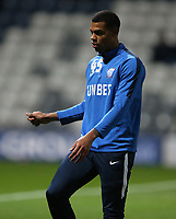 Preston North End's Lukas Nmecha during the pre-match warm-up <br /> <br /> Photographer Stephen White/CameraSport<br /> <br /> The EFL Sky Bet Championship - Preston North End v Middlesbrough - Tuesday 27th November 2018 - Deepdale Stadium - Preston<br /> <br /> World Copyright © 2018 CameraSport. All rights reserved. 43 Linden Ave. Countesthorpe. Leicester. England. LE8 5PG - Tel: +44 (0) 116 277 4147 - admin@camerasport.com - www.camerasport.com