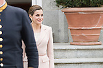 Queen Letizia during meeting with president of Argentinian Republic, Sr. Mauricio Macri and Sra Juliana Awada at Real Palace in Madrid, Spain. February 19, 2017. (ALTERPHOTOS/BorjaB.Hojas)