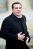 Alexis Tsipras - Premier ministre de Grece<br /> Parigi 11-11-2018 <br /> Eliseo Pranzo Ufficiale Capi di Stato <br /> Commemorazione 100 anni dalla fine della Grande Guerra, Prima Guerra Mondiale <br /> Foto JB Autissier/Panoramic / Insidefoto