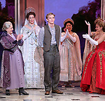 "Judy Kaye and Christy Altomare with Cody Simpson making his Broadway Debut Bows in ""Anastasia"" at the Broadhurst Theatre on November 29, 2018 in New York City."