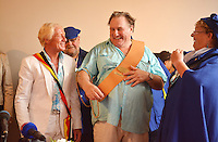 Gérard Depardieu, garden Party in Néchin - Belgium
