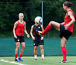 15.06.2011, Steinbergstadion, Leogang, AUT, FIFA WOMENS WORLDCUP 2011, PREPERATION, USA, im Bild Heather Mitts, (USA, #2), Shannon Boxx, (USA, #7) während eines Trainings zur Vorbereitung auf die FIFA Damen Fussball Weltmeisterschaft 2011 in Deutschland // during a Trainingssession for the FIFA Women´s Worldcup 2011 in Germany, on 2011/06/15, Steinberg Stadium, Leogang, Austria, EXPA Pictures © 2011, PhotoCredit: EXPA/ J. Feichter