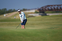 Brooke M. Henderson (CAN) watches her bump and run on 2 during the round 3 of the Volunteers of America Texas Classic, the Old American Golf Club, The Colony, Texas, USA. 10/5/2019.<br /> Picture: Golffile   Ken Murray<br /> <br /> <br /> All photo usage must carry mandatory copyright credit (© Golffile   Ken Murray)