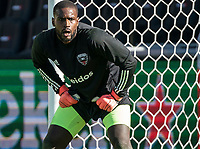 WASHINGTON, DC - MARCH 07: Bill Hamid #24 of DC United warms up during a game between Inter Miami CF and D.C. United at Audi Field on March 07, 2020 in Washington, DC.