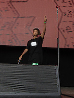 Jaden Smith comes out to perform during The New Look Wireless Music Festival at Finsbury Park, London, England on Sunday 05 July 2015. Photo by Andy Rowland.