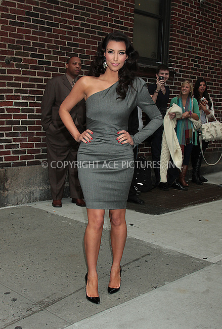 WWW.ACEPIXS.COM . . . . .  ....October 1 2009, New York City....Actress and television personality Kim Kardashian made an appearance at the 'Late Show with David Letterman' on October 1 2009 in New York City ....Please byline: AJ Sokalner - ACEPIXS.COM.... *** ***..Ace Pictures, Inc:  ..(212) 243-8787 or (646) 769 0430..e-mail: picturedesk@acepixs.com..web: http://www.acepixs.com