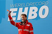 Nederland - Amsterdam -  2017.  Het Rode Kruis deed zaterdag 9 september een poging het wereldrecord grootste EHBO-les te verbreken. Het record is helaas niet gehaald. Prins Pieter-Christiaan, vice-voorzitter van het Rode Kruis, geeft het startschot.   Foto Berlinda van Dam / Hollandse Hoogte
