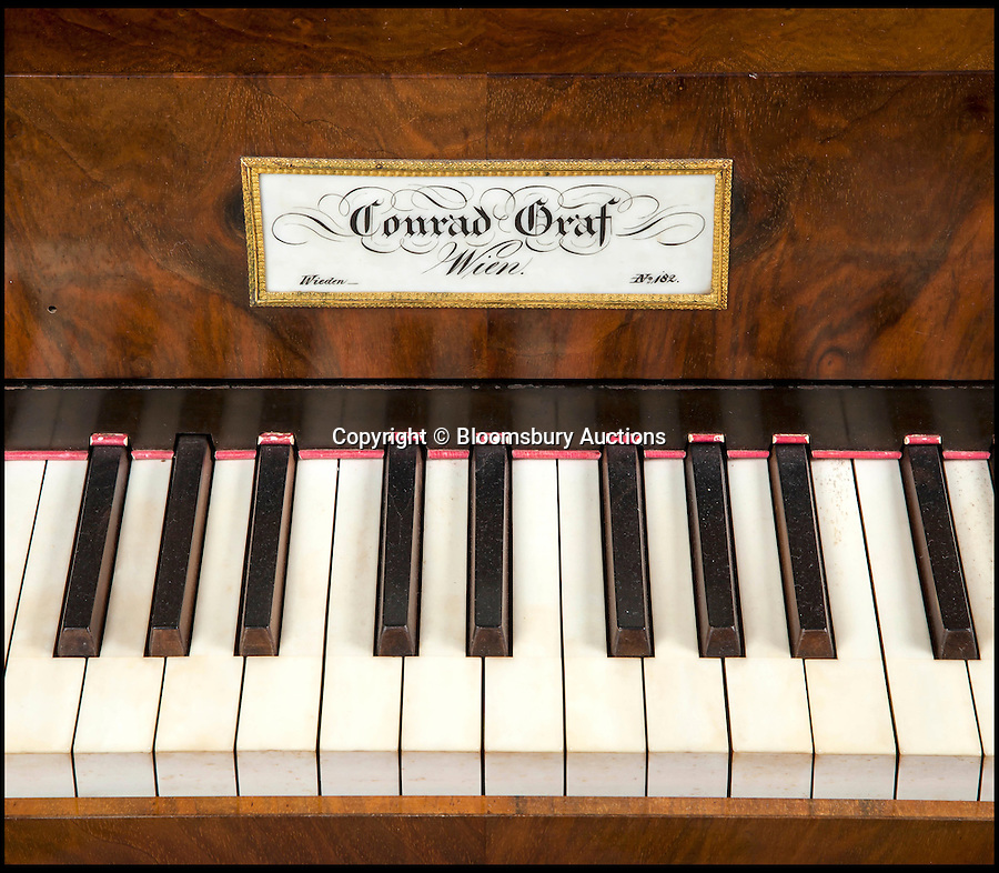 BNPS.co.uk (01202 558833)<br /> Pic: BloomsburyAuctions/BNPS<br /> <br /> A grand piano by Conrad Graf estimate £30,000.<br /> <br /> No strings attached - Worlds finest collection of historic piano's up for sale…<br /> <br /> An incredible collection of historic pianos and musical instruments that have been on display in a grand country home for four decades are expected to fetch more than half a million pounds at auction.<br /> <br /> The array of antique pianos, clavichords, harpsichords and other instruments, which span 350 years of music history, were accumulated by concert pianist Richard Burnett and stored at Finchcocks, his baroque house in idyllic Kent countryside near Tunbridge Wells.<br /> <br /> More than 70 keyboard instruments, including some of the best playing instruments in the world, are up for sale, with some expected to fetch up to £70,000.<br /> <br /> The sale by Dreweatts Auctions in Newbury, Berkshire, is on May 11.