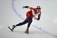 SCHAATSEN: HEERENVEEN: Thialf, 4th Masters International Speed Skating Sprint Games, 25-02-2012, Alf Gjolga (M65) 1st, ©foto: Martin de Jong