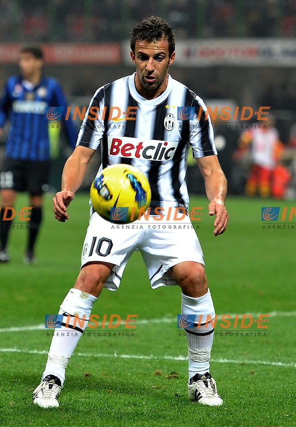 "Alessandro DEL PIERO (Juventus).Milano 29/10/2011 Stadio ""Giuseppe Meazza"".Serie A 2011/2012.Football Calcio Inter Vs Juventus.Foto Insidefoto Alessandro Sabattini."