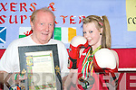 Naomi O'Brien of the Cashen Vale boxing club National Irish Champion in the 52kg class with trainer Paddy Enright in Ballybunion on Monday.