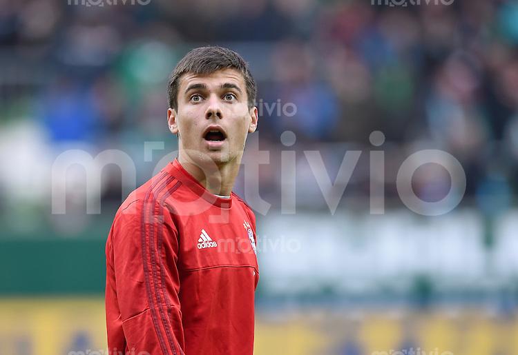 Fussball  1. Bundesliga  Saison 2015/2016  9. Spieltag  SV Werder Bremen - FC Bayern Muenchen     17.10.2015 Milos Pantovic (FC Bayern Muenchen)