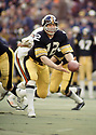 Pittsburgh Steelers Terry Bradshaw(12) during a game from his 1974 season with the Pittsburgh Steelers. Terry Bradshaw played 14 years, all for the Pittsburgh Steelers, was a 3-time Pro Bowler, 1-time first team Pro Bowler and was inducted to the Pro Football Hall of Fame in 1989.(SPORTPICS)