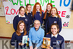 Love Literature Week in the Presentation Secondary School, Tralee hosted &ldquo;An Audience With Tomi Reichental &ndash; Author, Film maker and Holocaust survivor at the school on Tuesday. Front l to r: Eva Valor, Tomi Reichental and Olaia Sanhez.<br /> Back l-r, Sils Dosal, Aisling O&rsquo;Connell, Ava O&rsquo;Connell Buckley, Edel Campion and Rachel Kilgallan.