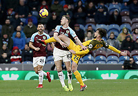 Burnley's Ashley Barnes battles with Brighton & Hove Albion's Davy Propper<br /> <br /> Photographer Rich Linley/CameraSport<br /> <br /> The Premier League - Burnley v Brighton and Hove Albion - Saturday 8th December 2018 - Turf Moor - Burnley<br /> <br /> World Copyright © 2018 CameraSport. All rights reserved. 43 Linden Ave. Countesthorpe. Leicester. England. LE8 5PG - Tel: +44 (0) 116 277 4147 - admin@camerasport.com - www.camerasport.com