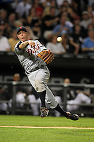 Detroit TIgers third baseman Brandon Inge (15) during a game vs. the Chicago White Sox at U.S. Cellular Field in Chicago, Illinois August 13, 2010.   Chicago defeated Detroit 8-4.  Photo By Mike Janes/Four Seam Images