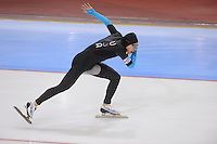 SCHAATSEN: SALT LAKE CITY: Utah Olympic Oval, 16-11-2013, Essent ISU World Cup, 1000m, Brian Hansen (USA), ©foto Martin de Jong
