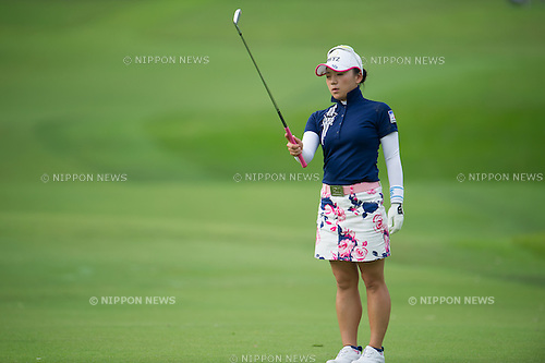 Chie Arimura (JPN),.MARCH 3, 2013 - Golf :.Chie Arimura of Japan in action during the final round of the HSBC Women's Champions at Sentosa Golf Club in Singapore. (Photo by Haruhiko Otsuka/AFLO)