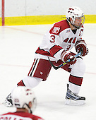 Alex Biega (Harvard - 3) - The Harvard University Crimson defeated the Dartmouth College Big Green 4-1 (EN) on Monday, January 18, 2010, at Bright Hockey Center in Cambridge, Massachusetts.