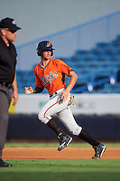 Will Banfield (10) of Brookwood High School in Lawrenceville, Georgia playing for the Baltimore Orioles scout team during the East Coast Pro Showcase on August 3, 2016 at George M. Steinbrenner Field in Tampa, Florida.  (Mike Janes/Four Seam Images)