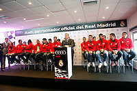 Real Madrid team participates and receives new Audi during the presentation of Real Madrid's new cars made by Audi at the Jarama racetrack on November 8, 2012 in Madrid, Spain.(ALTERPHOTOS/Harry S. Stamper) .<br />