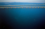 Aerial photograph of Seven Mile Bridge Key West, Florida