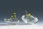 Blown glasses conserved in the Glass Art Museum of Altare in Italy