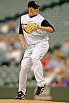 9 September 2006: Josh Fogg, pitcher for the Colorado Rockies, in action against the Washington Nationals. The Rockies defeated the Nationals 9-5 at Coors Field in Denver, Colorado.&#xA;&#xA;Mandatory Photo Credit: Ed Wolfstein.<br />