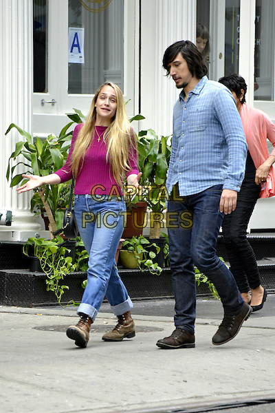NEW YORK, NY - MAY 21: Jemima Kirke, Adam Driver seen on the set of &quot;Girls&quot; on May 15, 2015 in New York City.  <br /> CAP/MPI/mpi67<br /> &copy;mpi67/MediaPunch/Capital Pictures