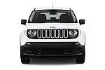Car photography straight front view of a2017 JEEP Renegade Sport 5 Door Suv Front View