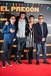 Berto Romero, Dani de la Orden, Belen Cuesta and Andre Buenafuente during the presentation of the film &quot;El Preg&oacute;n&quot; in Madrid, March 15, 2016<br /> (ALTERPHOTOS/BorjaB.Hojas)