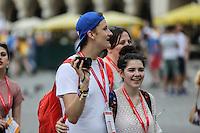 World Youth day Krakow 2016<br /> Coppia di giovani