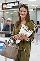 Brazilian top model Alessandra Ambrosio arrives at Narita International Airport in Chiba, Japan on September 8, 2015. (Photo by Yohei Osada/AFLO)