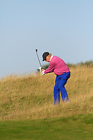 Dermot Desmond (AM) on the 11th fairway during Round 2 of the 2015 Alfred Dunhill Links Championship at Kingsbarns in Scotland on 2/10/15.<br /> Picture: Thos Caffrey | Golffile
