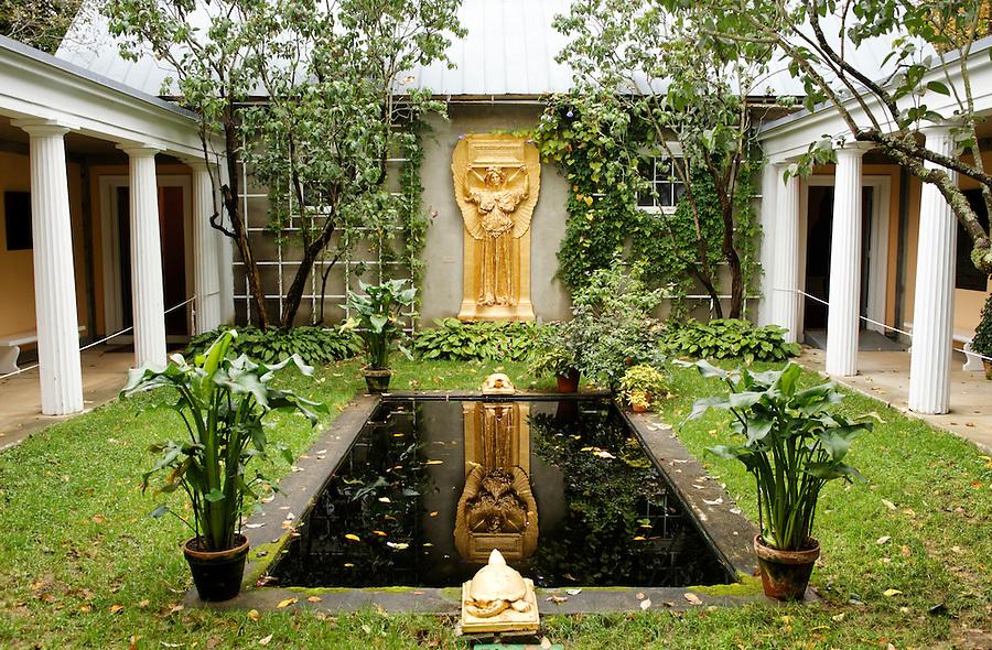 Garden courtyard, New Gallery atrium, Saint-Gaudens National Historic Site, Cornish, Sullivan County, New Hampshire, USA