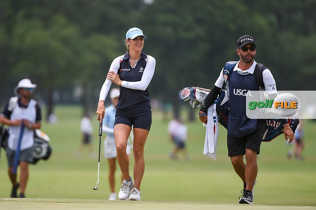 Jaye Marie Green (USA) makes her way onto the green on 9 during round 2 of the 2019 US Women's Open, Charleston Country Club, Charleston, South Carolina,  USA. 5/31/2019.<br /> Picture: Golffile | Ken Murray<br /> <br /> All photo usage must carry mandatory copyright credit (© Golffile | Ken Murray)