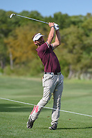 Joost Luiten (NED) hits his approach shot on 1 during day 1 of the Valero Texas Open, at the TPC San Antonio Oaks Course, San Antonio, Texas, USA. 4/4/2019.<br /> Picture: Golffile   Ken Murray<br /> <br /> <br /> All photo usage must carry mandatory copyright credit (&copy; Golffile   Ken Murray)