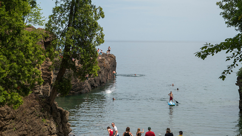 The Black Rocks area of Presque Isle Park in Marquette, Michigan.