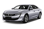 2018 Peugeot 508 Allure 5 Door Hatchback Angular Front stock photos of front three quarter view