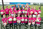 Young girls who attended the FAI Aviva Easter Festival of soccer skills, held at Christy Leahy Park, Cahermoneen, Tralee on Easter Saturday morning.