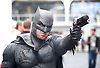 London Super Comic Con<br /> at Design Centre Islington, London, Great Britain <br /> 25th August 2017 <br /> <br /> <br /> <br /> <br /> Shaun Campbell as Batman <br /> <br /> London Super Comic Con plays host to the latest comics, comic related memorabilia, superheroes and graphic novels fans have a chance to interact with their favourite creators, and  exhibitors showcasing items from comics to Cosplay, original art to toys.<br /> <br /> <br /> <br /> <br /> <br /> <br /> Photograph by Elliott Franks <br /> Image licensed to Elliott Franks Photography Services